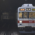 トンネルを抜ける特急電車