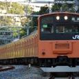 駿河台のS字を行く快速電車