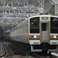 根府川鉄橋を行く211系