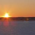 シラルトロ湖の夕日