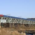県境の鉄橋を行く「北斗星」