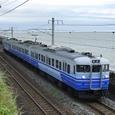 日本海色の電車