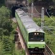 大和川を渡る普通電車