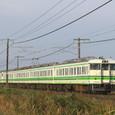 越後平野を快走する普通列車