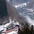 冬の銚子ノ口を行く国鉄色