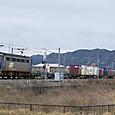 ラッシュ前に上る貨物列車