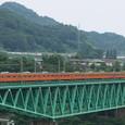 鳥沢鉄橋を渡る201系さよなら列車