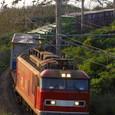 松ヶ崎海岸を行く縦貫貨物列車