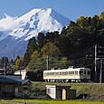 京王カラーと富士山