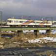 奈良井川を渡る3000系