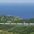 富戸鉄橋を渡る「踊り子」