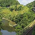 川縁を行く久留里線普通列車