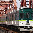 宇治川を渡る準急電車