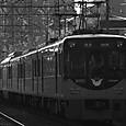逆光の京阪特急