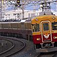 急行灯を灯らせて走る京阪特急