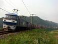 県境区間を行く貨物列車