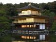 残照に輝く金閣寺