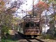 レトロ「調」モボ20を先頭にした嵐山行き直通列車