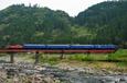 玖珠川を渡るブルートレイン