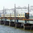 淀川を渡り終える1000形