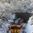 着雪のトンネル
