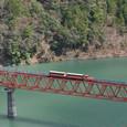 湖上を行くミニ列車