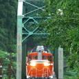 第二吉野川橋梁を行く客車列車