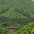 緑萌える谷を行く「きのさき」