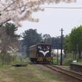 嘉瀬に到着するストーブ列車