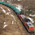 中山峠を行くタンク列車